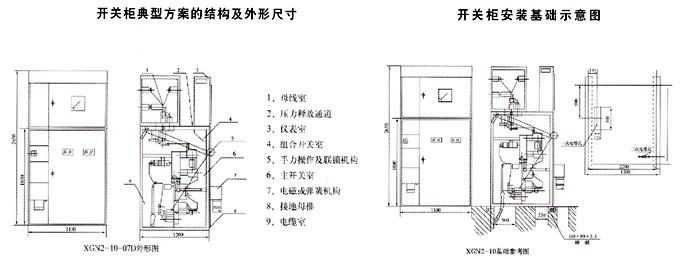 高压机组断路器柜接线原理图